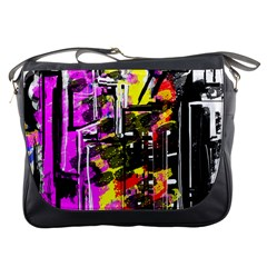 Abstract City View Messenger Bags by digitaldivadesigns