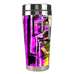 Abstract City View Stainless Steel Travel Tumblers by digitaldivadesigns