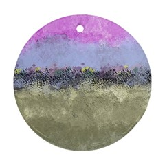 Abstract Garden In Pastel Colors Ornament (round)  by digitaldivadesigns
