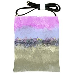 Abstract Garden In Pastel Colors Shoulder Sling Bags by digitaldivadesigns
