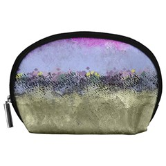 Abstract Garden In Pastel Colors Accessory Pouches (large)