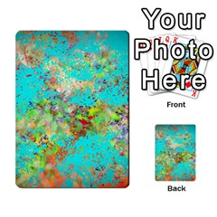 Abstract Garden In Aqua Multi Purpose Cards (rectangle)  by digitaldivadesigns