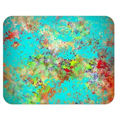 Abstract Garden In Aqua Double Sided Flano Blanket (medium)  by digitaldivadesigns