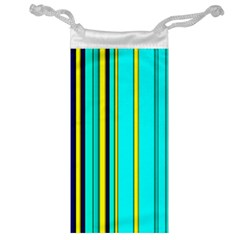 Hot Stripes Aqua Jewelry Bags by ImpressiveMoments