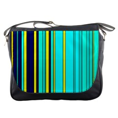 Hot Stripes Aqua Messenger Bags by ImpressiveMoments