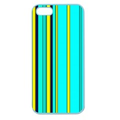 Hot Stripes Aqua Apple Seamless Iphone 5 Case (color) by ImpressiveMoments