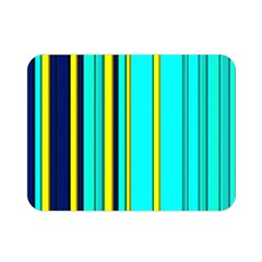 Hot Stripes Aqua Double Sided Flano Blanket (mini)