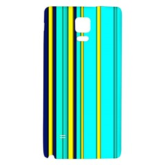 Hot Stripes Aqua Galaxy Note 4 Back Case by ImpressiveMoments