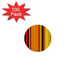 Hot Stripes Fire 1  Mini Buttons (100 Pack)  by ImpressiveMoments