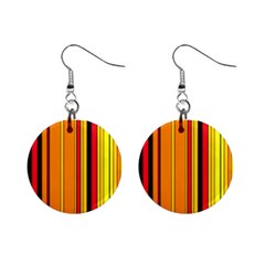 Hot Stripes Fire Mini Button Earrings by ImpressiveMoments