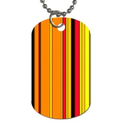 Hot Stripes Fire Dog Tag (one Side) by ImpressiveMoments