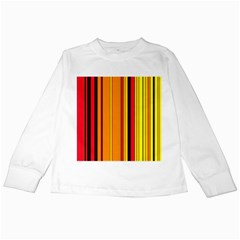 Hot Stripes Fire Kids Long Sleeve T Shirts by ImpressiveMoments