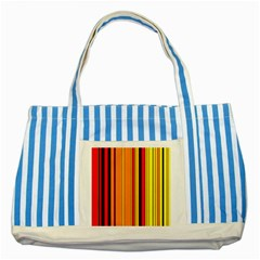 Hot Stripes Fire Striped Blue Tote Bag