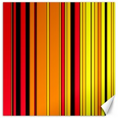 Hot Stripes Fire Canvas 16  X 16