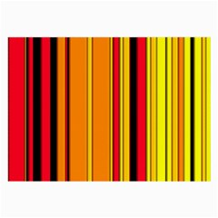 Hot Stripes Fire Large Glasses Cloth (2 Side) by ImpressiveMoments