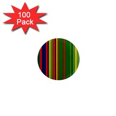 Hot Stripes Grenn Blue 1  Mini Magnets (100 Pack)  by ImpressiveMoments
