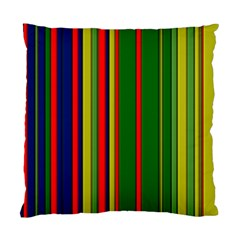 Hot Stripes Grenn Blue Standard Cushion Case (one Side)  by ImpressiveMoments