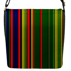 Hot Stripes Grenn Blue Flap Messenger Bag (s) by ImpressiveMoments