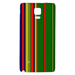 Hot Stripes Grenn Blue Galaxy Note 4 Back Case by ImpressiveMoments