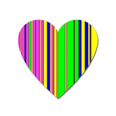 Hot Stripes Rainbow Heart Magnet by ImpressiveMoments
