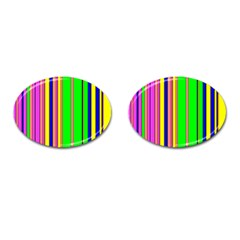 Hot Stripes Rainbow Cufflinks (oval) by ImpressiveMoments