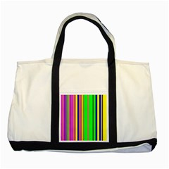 Hot Stripes Rainbow Two Tone Tote Bag  by ImpressiveMoments