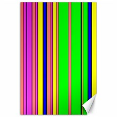 Hot Stripes Rainbow Canvas 20  X 30   by ImpressiveMoments
