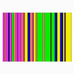 Hot Stripes Rainbow Large Glasses Cloth (2 Side) by ImpressiveMoments