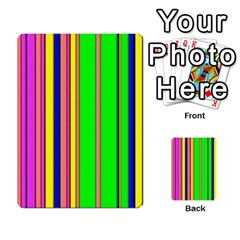 Hot Stripes Rainbow Multi Purpose Cards (rectangle)