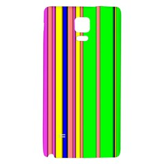 Hot Stripes Rainbow Galaxy Note 4 Back Case by ImpressiveMoments