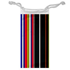 Hot Stripes Red Blue Jewelry Bags by ImpressiveMoments