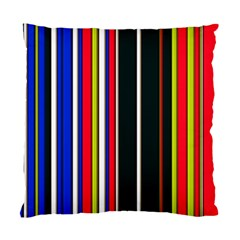 Hot Stripes Red Blue Standard Cushion Case (one Side)  by ImpressiveMoments