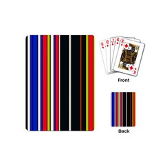 Hot Stripes Red Blue Playing Cards (mini)