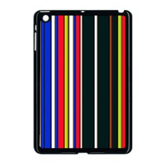 Hot Stripes Red Blue Apple Ipad Mini Case (black) by ImpressiveMoments