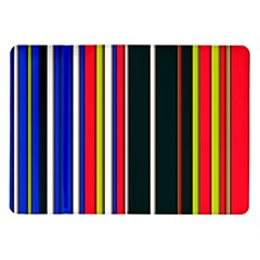 Hot Stripes Red Blue Samsung Galaxy Tab 10 1  P7500 Flip Case by ImpressiveMoments