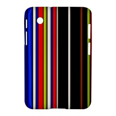 Hot Stripes Red Blue Samsung Galaxy Tab 2 (7 ) P3100 Hardshell Case