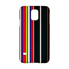 Hot Stripes Red Blue Samsung Galaxy S5 Hardshell Case  by ImpressiveMoments