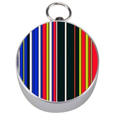 Hot Stripes Red Blue Silver Compasses by ImpressiveMoments