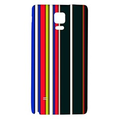 Hot Stripes Red Blue Galaxy Note 4 Back Case by ImpressiveMoments