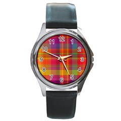 Plaid, Hot Round Metal Watches