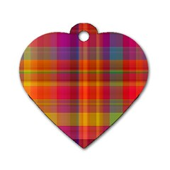 Plaid, Hot Dog Tag Heart (one Side) by ImpressiveMoments