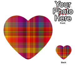 Plaid, Hot Multi Purpose Cards (heart)  by ImpressiveMoments