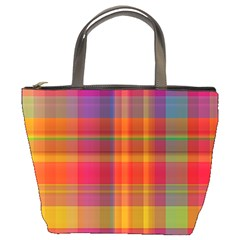 Plaid, Hot Bucket Bags by ImpressiveMoments