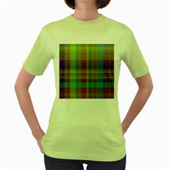 Plaid, Cool Women s Green T Shirt