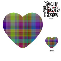 Plaid, Cool Multi-purpose Cards (heart)  by ImpressiveMoments