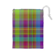 Plaid, Cool Drawstring Pouches (large)  by ImpressiveMoments