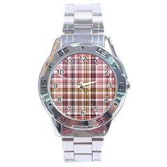 Plaid, Candy Stainless Steel Men s Watch