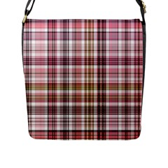 Plaid, Candy Flap Messenger Bag (l)  by ImpressiveMoments