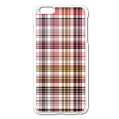 Plaid, Candy Apple Iphone 6 Plus Enamel White Case by ImpressiveMoments
