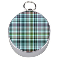 Plaid Ocean Silver Compasses by ImpressiveMoments